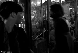 outside a bar, Barcelona