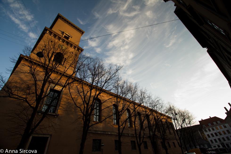 Københavns Domkirke at sunrise